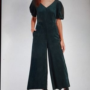 NWT Lysse Emerald City Cropped Jumpsuit